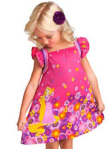 DRESS TANGLED FLOWERY PINK SZ 80-120 5PCS = 440RB
