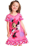 DRESS MINNIE PINK RED SZ 80-120 5PCS = 455RB