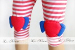 LEGGING LNICE RED STRIP HEART SZ 1-5T 5PCS = 205RB, SZ 6-10T 5PCS = 220RB