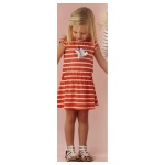 GAP FISH STRIP DRESS ORANGE SZ 80-120 5PCS = 370RB high quality