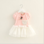 DRESS PINK 3D FLOWER TUTU SZ 90-120 4PCS = 348RB