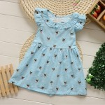 DRESS KOREAN BLUE DOT SZ 1-6TH 6PCS = 486RB