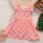 DRESS KOREAN PINK DOT SZ 1-6TH 6PCS = 486RB