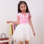 DRESS PINK POLKA TUTU WHITE SZ 110-160 6PCS = 567RB