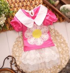 DRESS SUNFLOWER PINK SZ S-XL 4PCS = 308RB