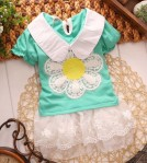 DRESS SUNFLOWER GREEN SZ S-XL 4PCS = 308RB
