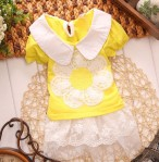 DRESS SUNFLOWER YELLOW SZ S-XL 4PCS = 308RB