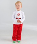 GIRLSET WHITE SANTA SZ 80-120 5PCS = 395RB