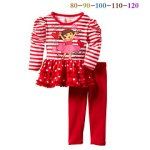 GIRLSET RED DORA STRIP SZ 80-120 5PCS = 395RB
