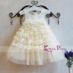DRESS WHITE FLORAL SZ 90-140 6PCS = 714RB