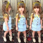 GIRLSET YELLOW OVERALL SZ 2-8T 7PCS = 686RB