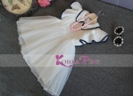 DRESS WHITE BLACK LIST NECKLACE SZ 90-140 6PCS = 684RB