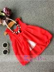 DRESS 2IN1 RED NECKLACE SZ 90-140 6PCS = 690RB