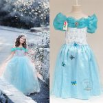 DRESS CINDERELLA SOFT BLUE SZ 100-140 5PCS = 495RB