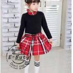 EBUTY BURBERRY BLACK RED SZ 95-140 6PCS = 546RB