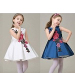 DRESS CLASIC FLOWER SZ 100-150 7PCS = 658RB (PILIH WHITE / NAVY)