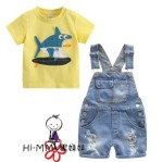 OVERALL YELLOW SHARK SZ 2-7Y 6PCS = 648RB